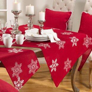 Snow Crystal Snowflake Tablecloth