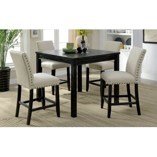 Stuckey Rustic 5 Piece Counter Height Dining Set