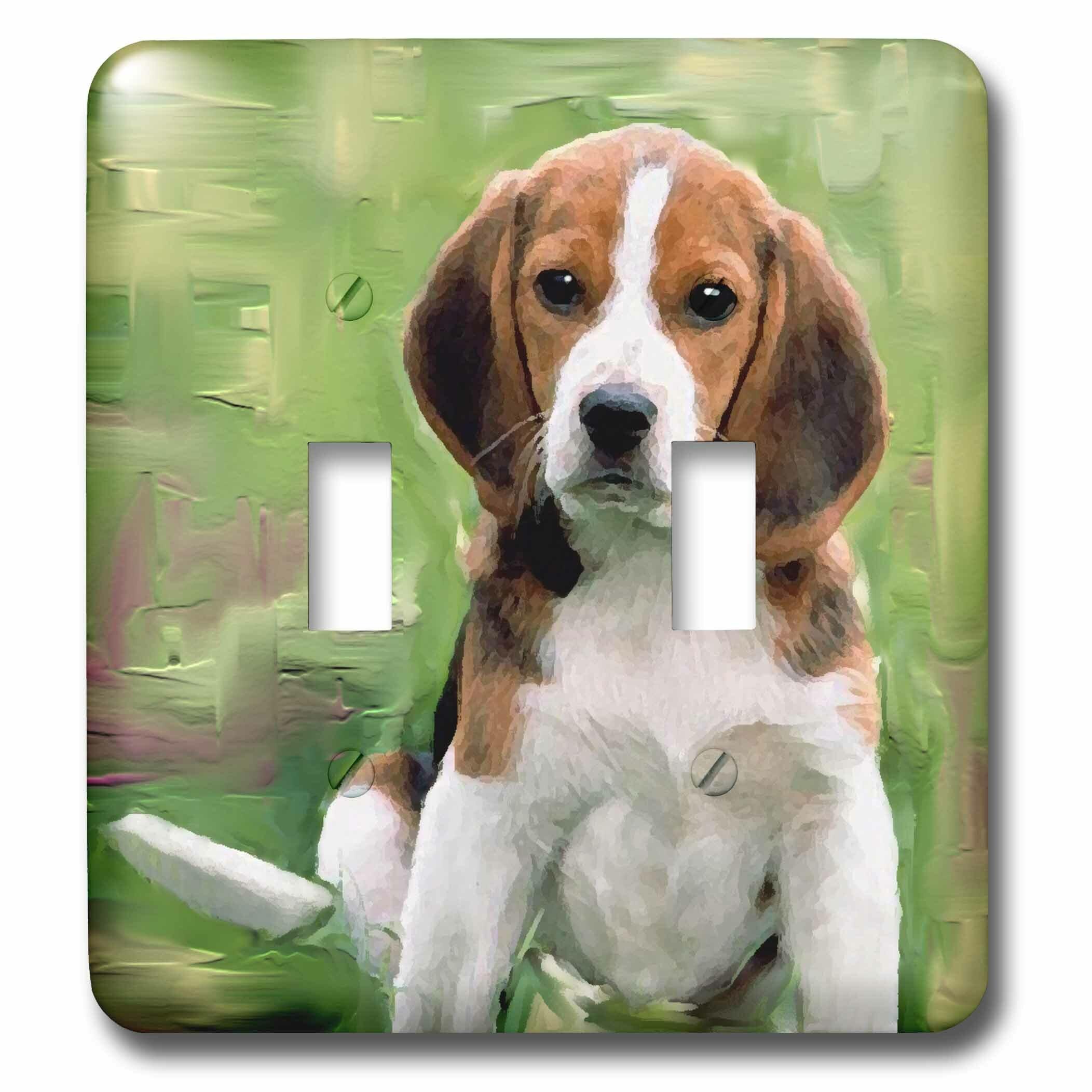 3drose Beagle Puppy 2 Gang Toggle Light Switch Wall Plate Wayfair