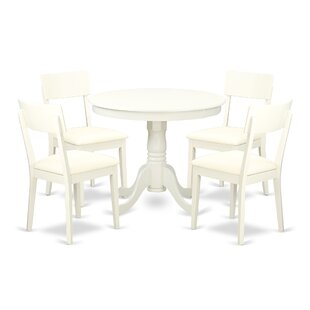 Brendan 5 Piece Breakfast Nook Solid Wood Dining Set August Grove