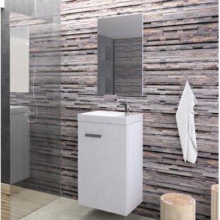 Anner Bathroom 400mm Wall Hung Single Vanity Unit By Mercury Row