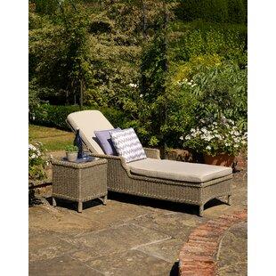 Rysing Garden Reclining Sun Lounger With Cushion Image