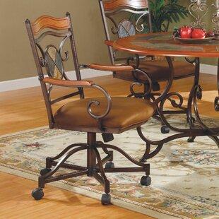 Culbert Swivel Caster Upholstered Dining Chair (Set Of 2)