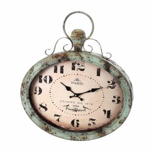 Krouse Oversized Metal Oval Paris 20.5 Wall Clock by Ophelia & Co.