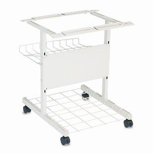 BALT® Adjustable Single Mobile Printer Stand with Printout Basket by Balt