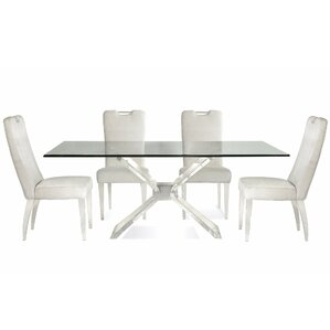 Victor 5 Piece Wood Dining Set by Wade Logan