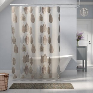 Read Reviews Pick City Gossamer Leaf Shower Curtain By Laurel Foundry Modern Farmhouse