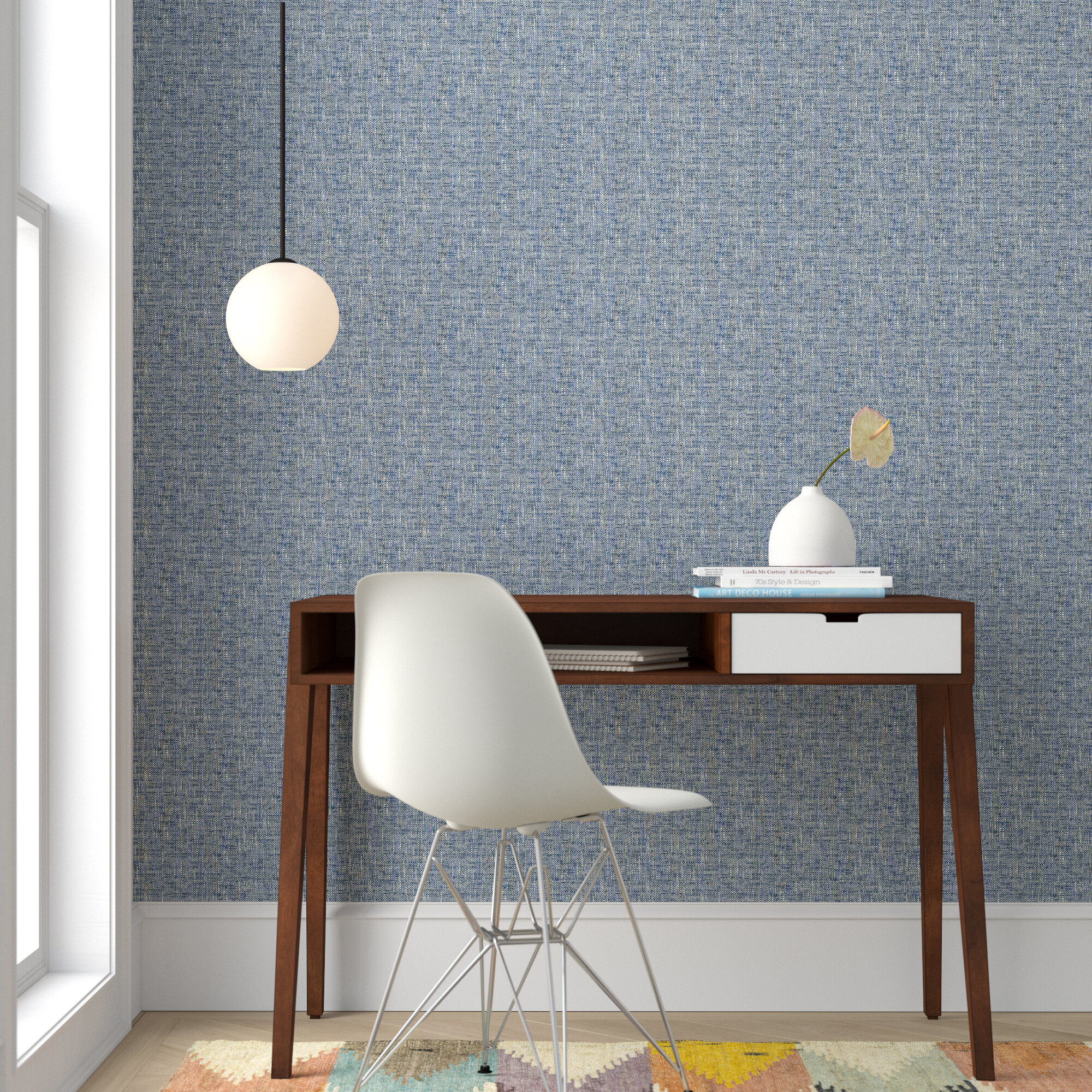 mannford 18 l x 205 w texture peel and stick wallpaper roll