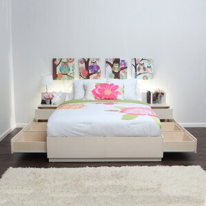 Captains Storage Platform Bed by Gothic Furniture