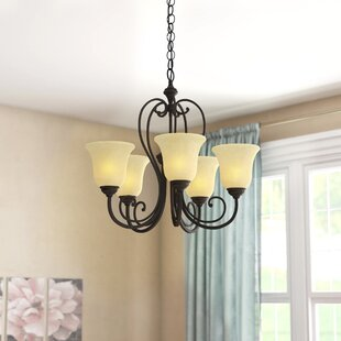 Three Posts Temples 5-Light Shaded Chandelier