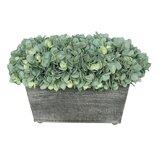 Artificial Rectangle Hydrangea in Planter