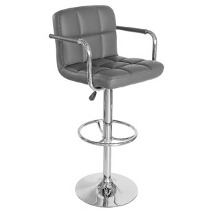 Showalter Height Adjustable Swivel Bar Stool By Mercury Row