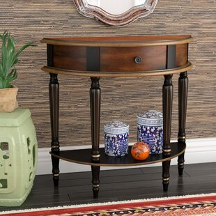 Best Review Dorine Demilune Console Table By World Menagerie