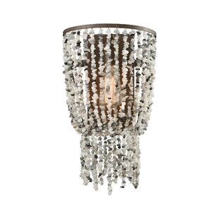 Rosecliff Heights Stanton Glass 1-Light Flush Mount