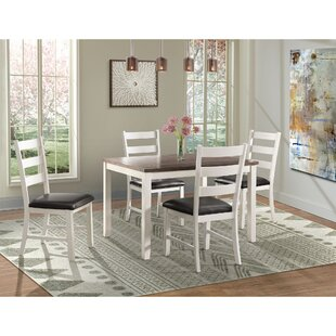 Mavis 5 Piece Solid Wood Dining Set Alcott Hill