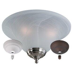 Best 3-Light 60W Bowl Ceiling Fan Light Kit By Red Barrel Studio