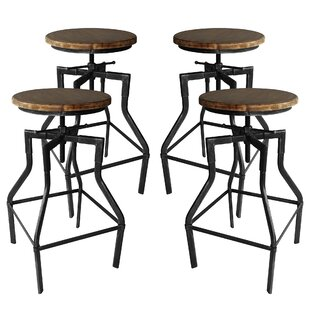 Hogle Adjustable Height Bar Stool - set of 4 (Set of 4) by Williston Forge