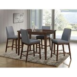 Reich 5 Piece Counter Height Solid Wood Dining Set by Ebern Designs