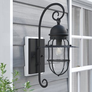 Top Reviews Gouverneur 1-Light Outdoor Wall Lantern By Longshore Tides