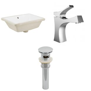 Deals Ceramic Rectangular Undermount Bathroom Sink with Faucet and Overflow ByRoyal Purple Bath Kitchen