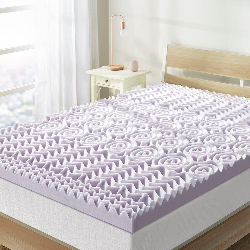 """Alwyn Home Ida 5-Zone 3"""" Memory Foam Mattress Topper & Reviews"""