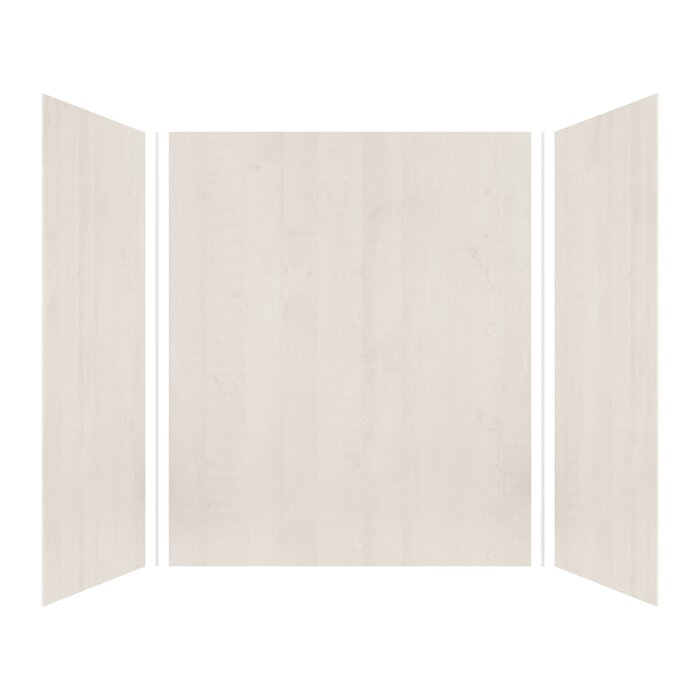 Expressions 72 X 60 48 Three Panel Shower Wall With Silicone Adhesive