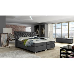 Orren Ellis Timmy Upholstered Panel Bed with Mattress