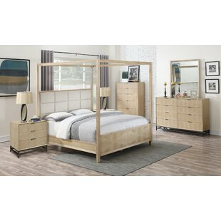 Holmquist Upholstered Canopy Bed