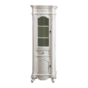 """McCloy 24"""" W x 72"""" H Linen Tower by"""