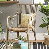 Camryn Slat Back Arm Chair in Natural Rustic (Set of 2) by Beachcrest Home™