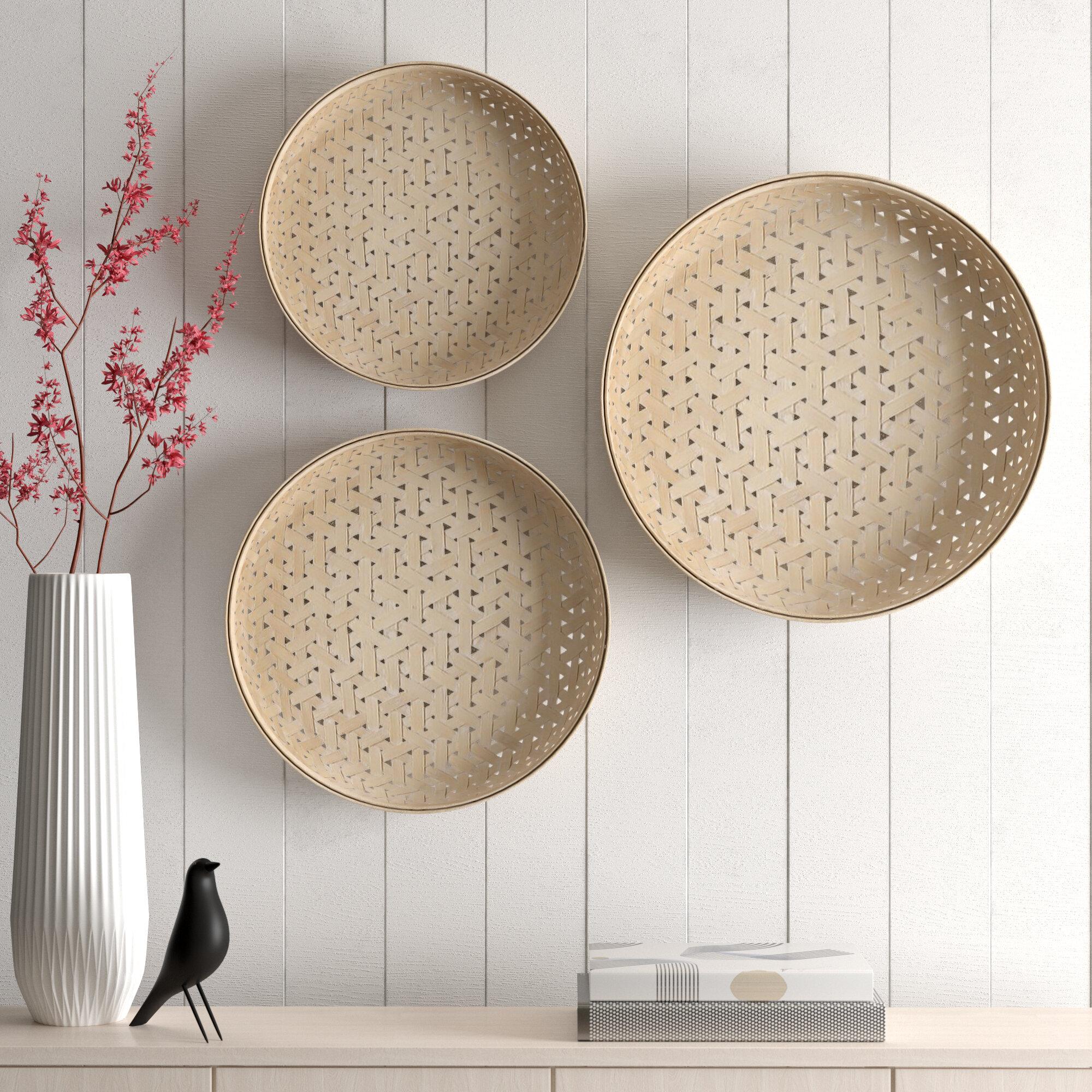 Allmodern Revere 3 Piece Bamboo Basket Set Reviews Wayfair