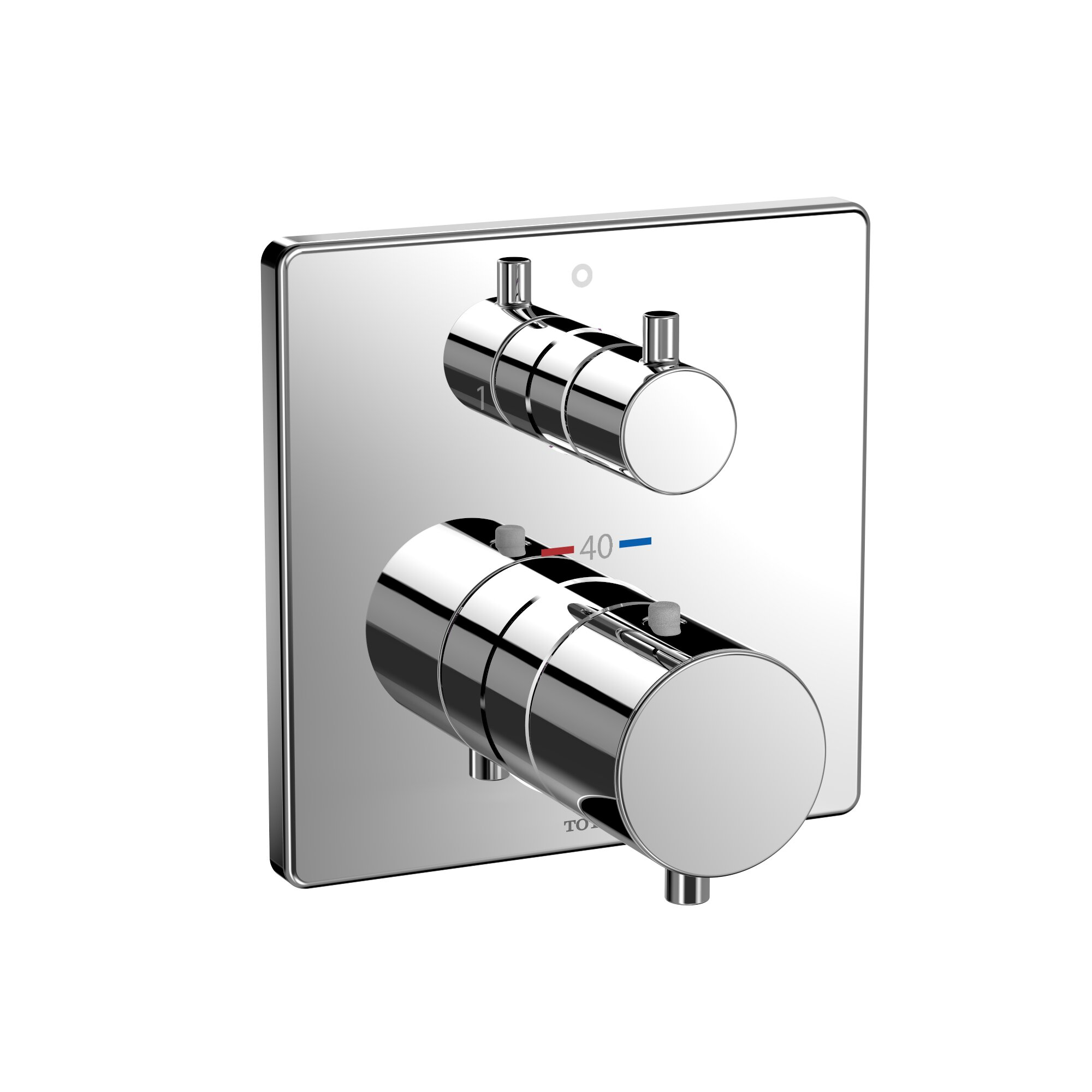 Toto Square Thermostatic Mixing Valve with Two-Way Diverter Shower ...