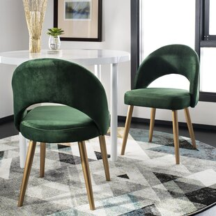 Elisabeth Retro Upholstered Dining Chair (Set of 2) Langley Street