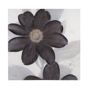 Midnight Bloom Painting Print on Canvas