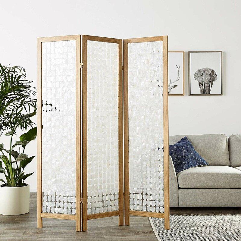Bayou Breeze Kucera 3 Panel Room Divider Wayfair