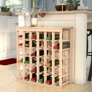 Red Barrel Studio Karnes Pine 36 Bottle Floor Wine Rack