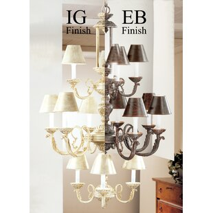 Classic Lighting Innsbrook 12-Light Shaded Chandelier