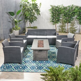 Shakti 7 Piece Rattan Sofa Seating Group with Cushion