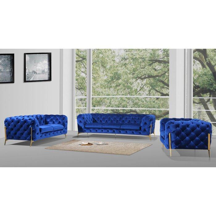 Anika 3 Piece Living Room Set
