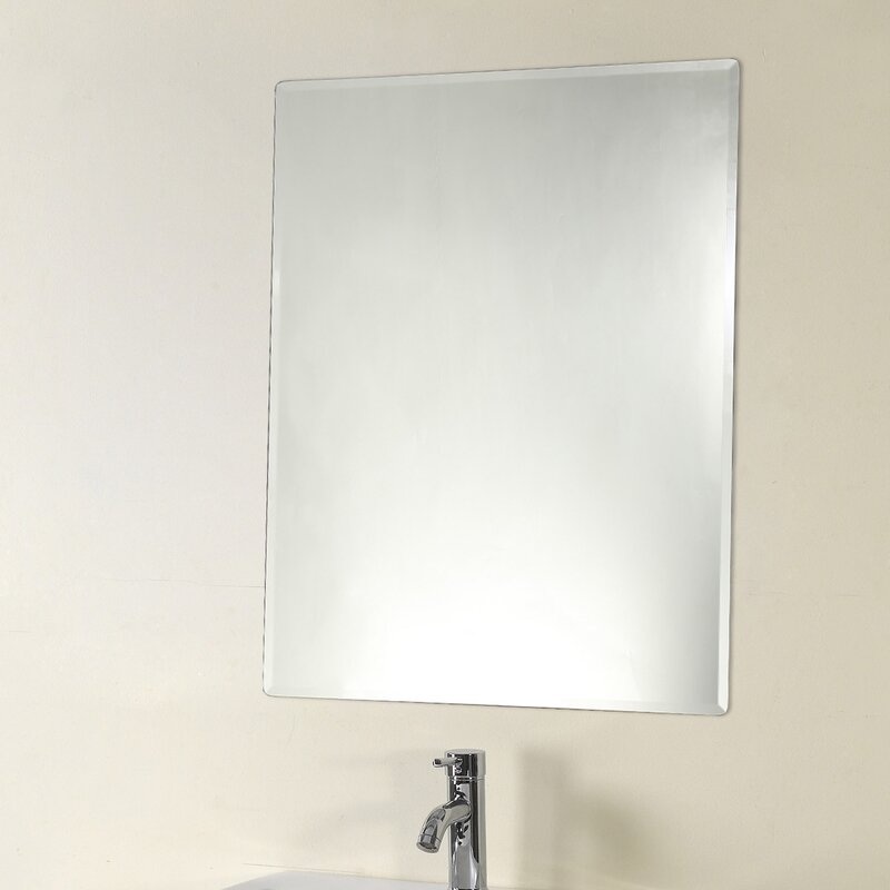 Orren Ellis Rolfe Frameless Wall Mirror Wayfair
