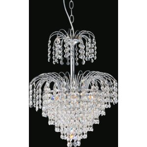 Palm Tree 8-Light Crystal Chandelier