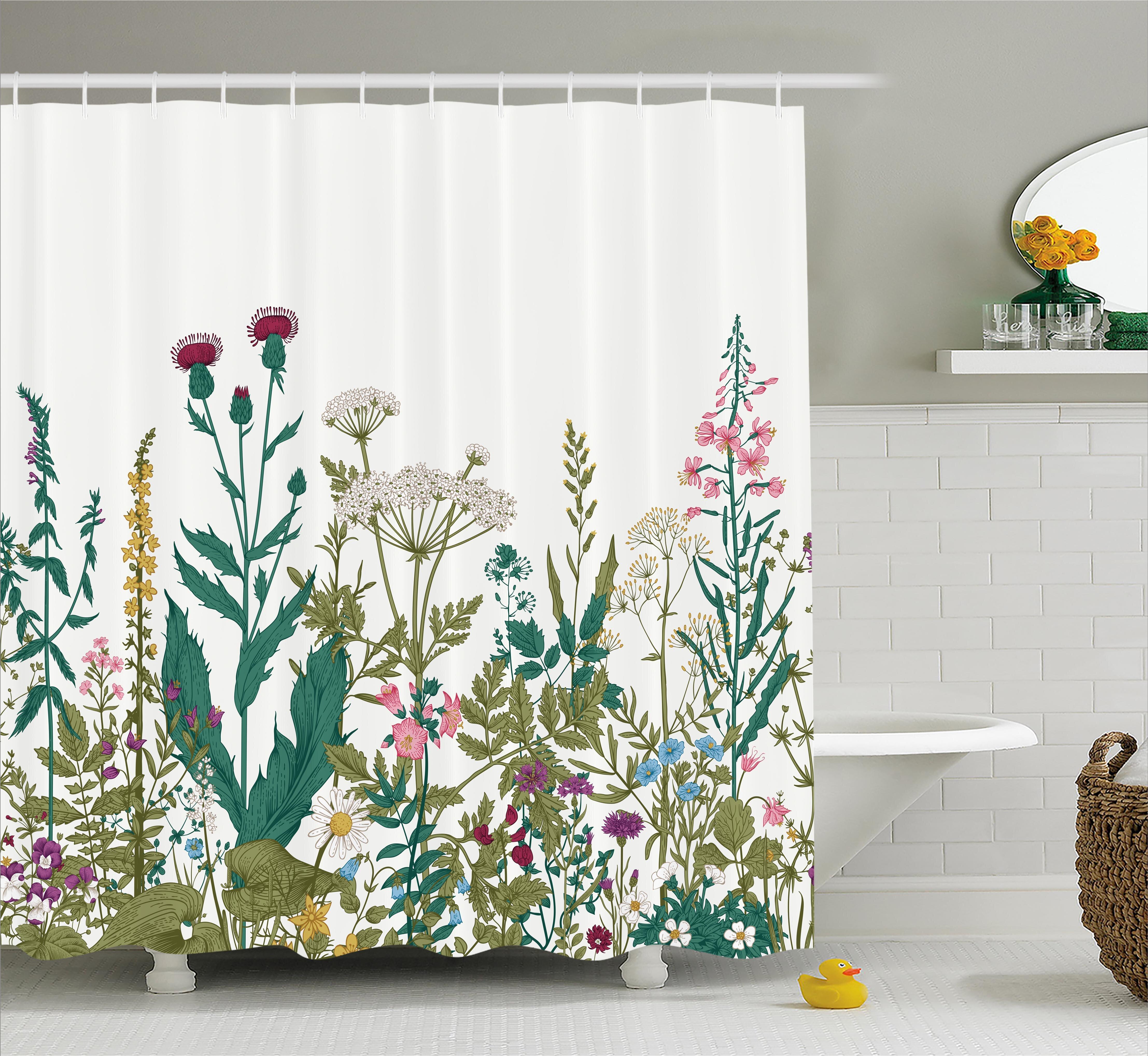 Winston Porter Eastlake Flowers Leaves Shower Curtain   Wayfair