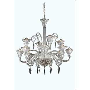 Rosdorf Park Katherin 12-Light Shaded Chandelier