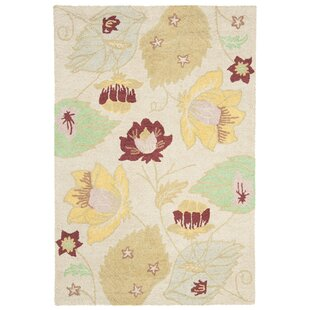 Bargain Jadon Wool Ivory / Multi Contemporary Rug By Charlton Home