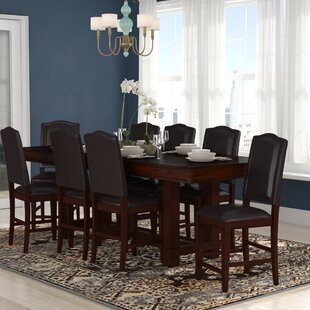 World Menagerie Manning 9 Piece Counter Height Dining Set
