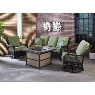 Bay Isle Home Walker 4 Piece Woven Lounge Set