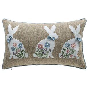 Spring Bunny Lumbar Pillow