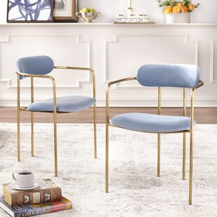 Carrigan Upholstered Dining Chair (Set of 2) Mercer41