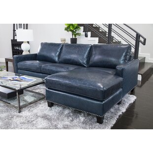 Light Blue Leather Sectional | Wayfair