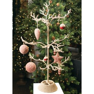 jute display tree ornament accessory - Metal Christmas Tree Ornament Display